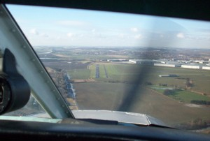 Winter approach to runway 29