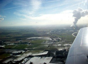 Winter view just after take off