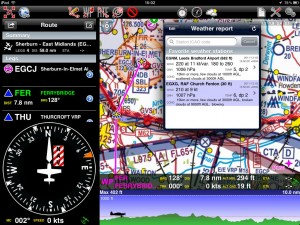 Air Nav Pro on the iPad