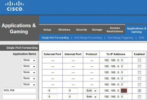 E4200 Single Port Forwarding