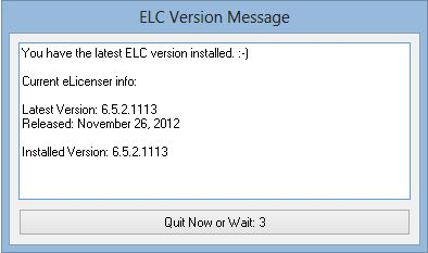 ELC Version Checker